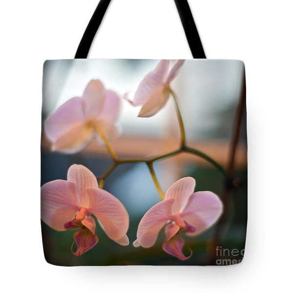Orchid Menage Tote Bag by Mike Reid