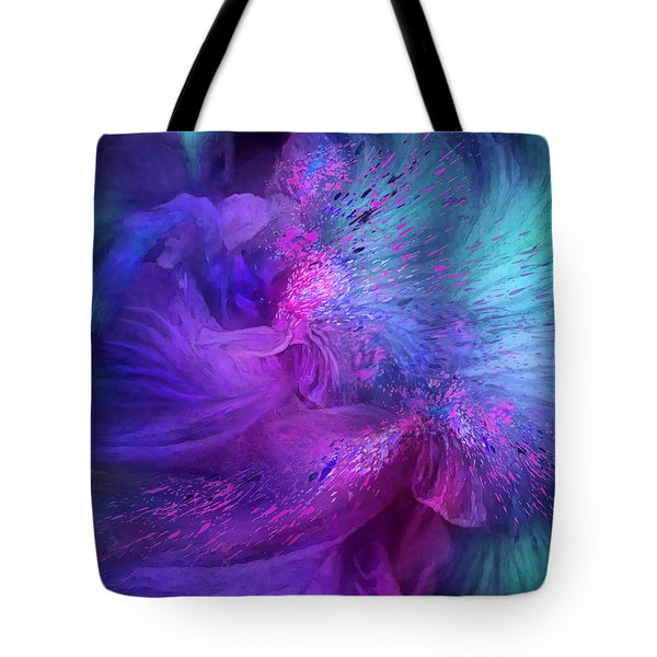 Tote Bag featuring the mixed media Orchid Moods 3 by Carol Cavalaris