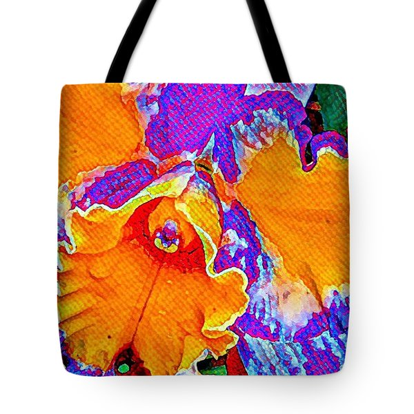 Orchid Psychedelic Tote Bag