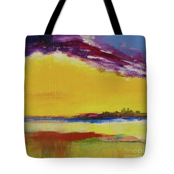 Tote Bag featuring the painting Orchid Sky by Robin Maria Pedrero