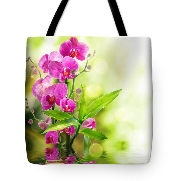Orchidaceae Tote Bag by Thomas M Pikolin