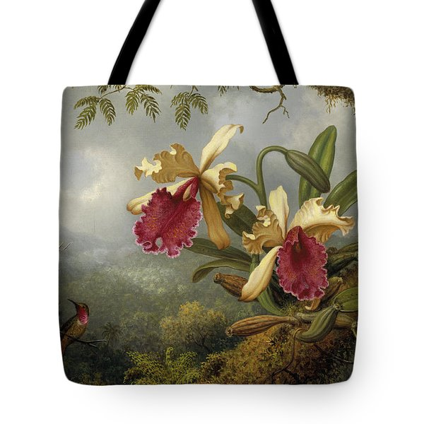 Orchids And Hummingbird Tote Bag