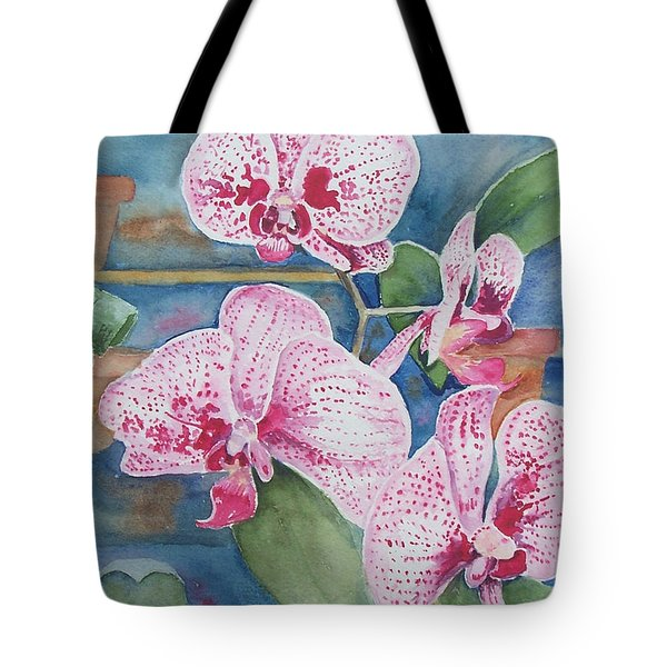 Orchids Tote Bag by Christine Lathrop