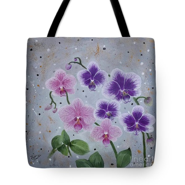 Orchids Galore Tote Bag