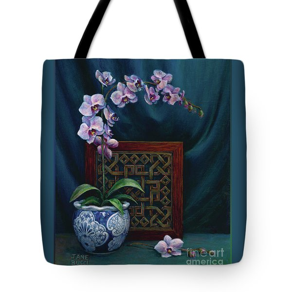 Orchids In A Chinese Pot Tote Bag