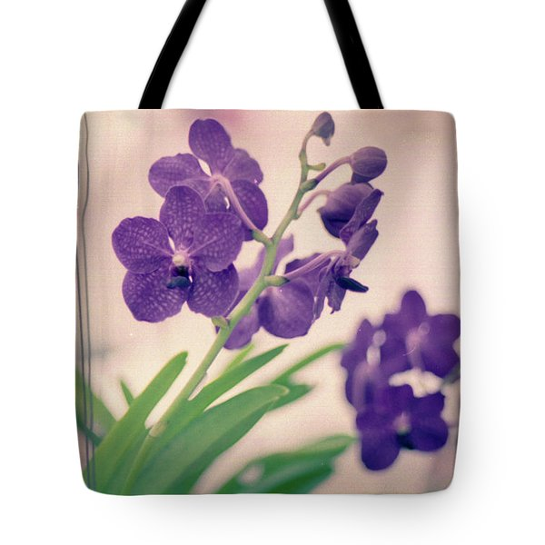 Tote Bag featuring the photograph Orchids In Purple  by Ana V Ramirez