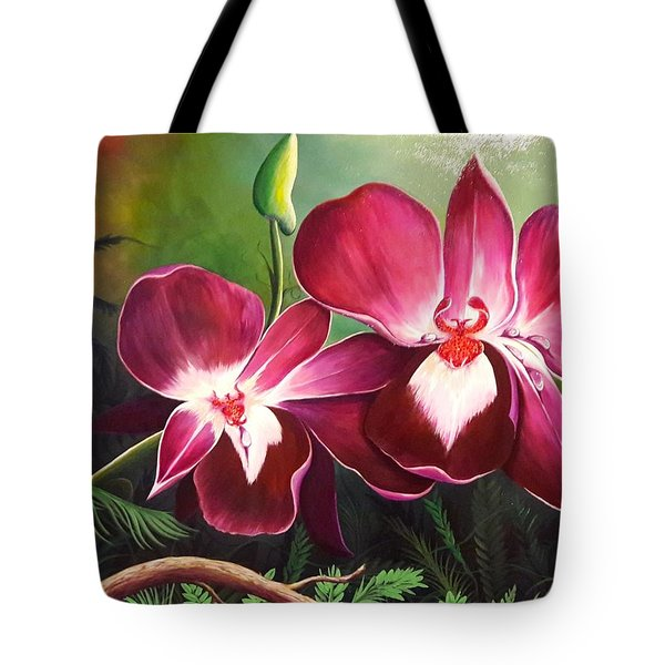 Orchids In The Night Tote Bag