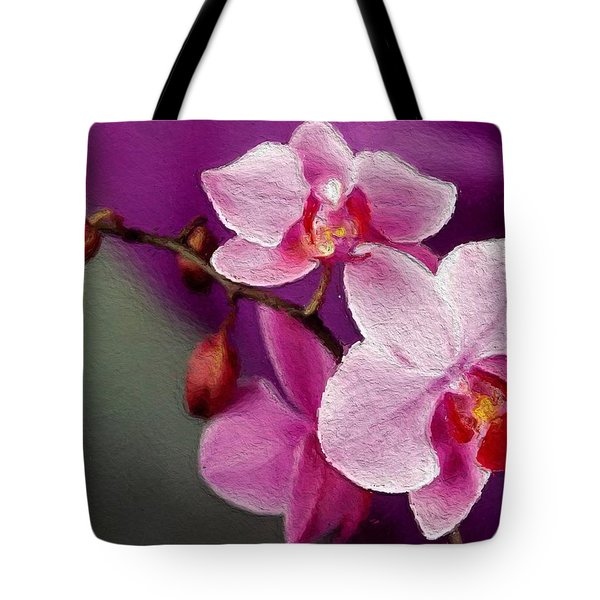 Orchids In Violets Tote Bag