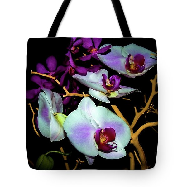 Tote Bag featuring the photograph Orchids In Water Color by Diana Mary Sharpton