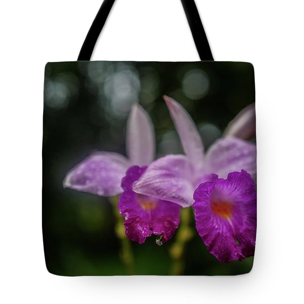 Orchids Love The Rain Tote Bag by Jocelyn Kahawai
