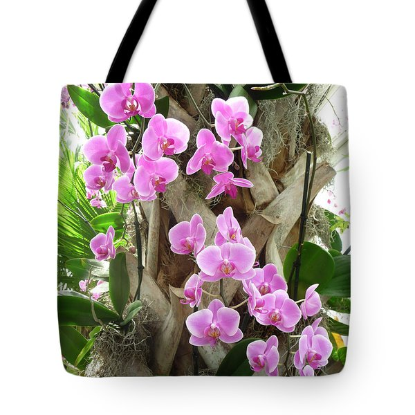 Orchids On Parade Tote Bag