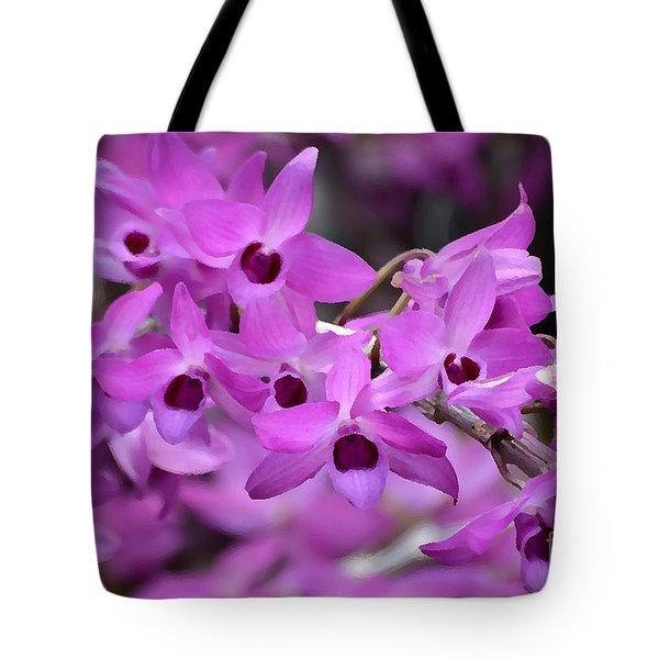 Orchids Paint Tote Bag