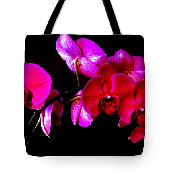 Orchids Tote Bag by Ron Davidson