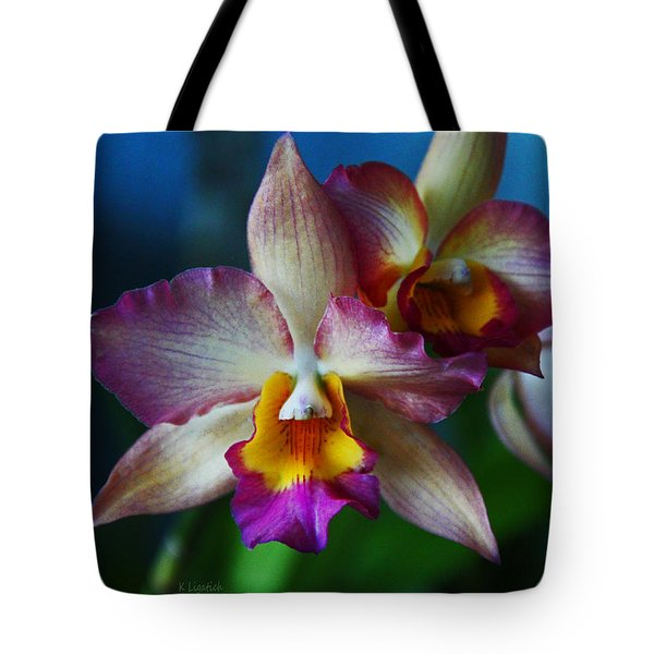 Tote Bag featuring the photograph Orchids - Trio by Kerri Ligatich