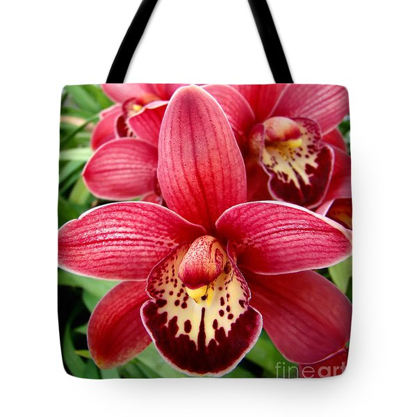 Tote Bag featuring the photograph Orchids Up Close by Sue Melvin