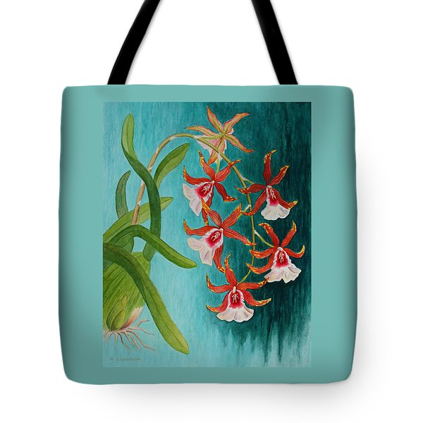 Orchids - Volcano Queen Tote Bag