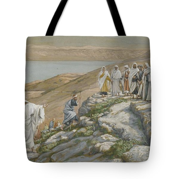 Ordaining Of The Twelve Apostles Tote Bag by Tissot