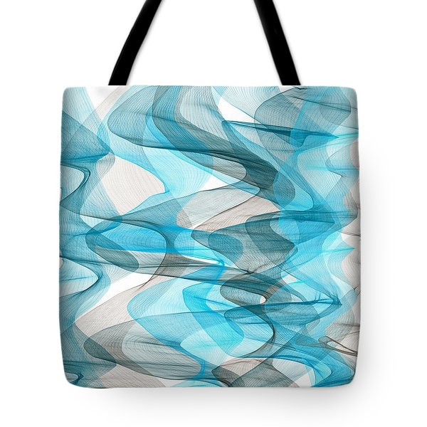 Orderly Blues And Grays Tote Bag