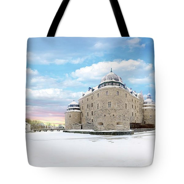 Orebro Castle Tote Bag by Marius Sipa