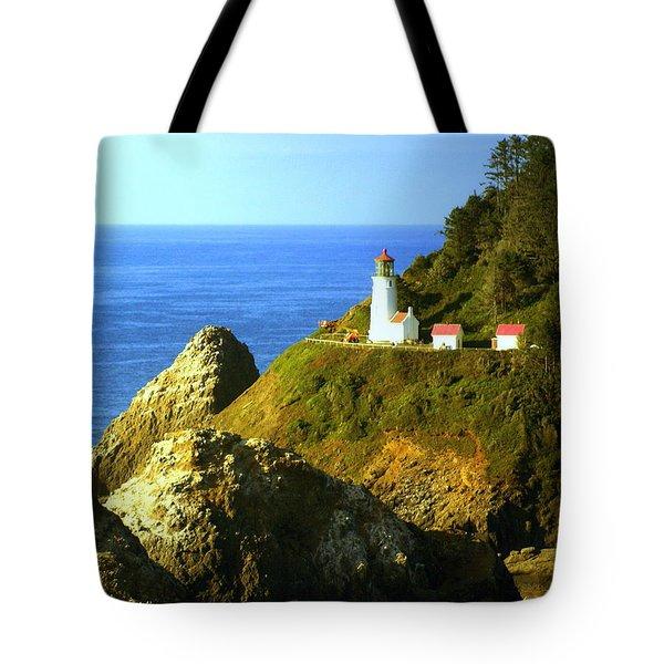 Oregan Lighthouse Tote Bag by Marty Koch