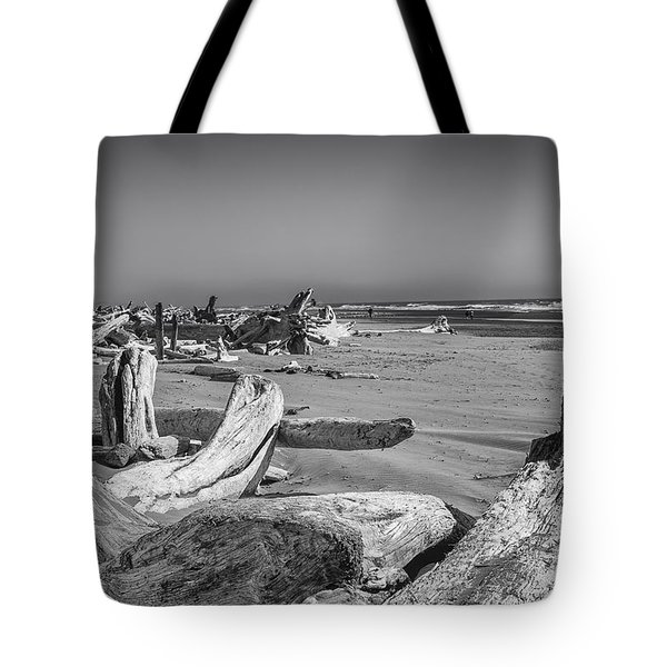 Oregon Beach Driftwood Tote Bag