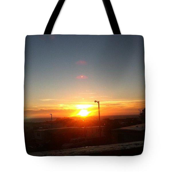 Oregon Blazing Sunset Tote Bag