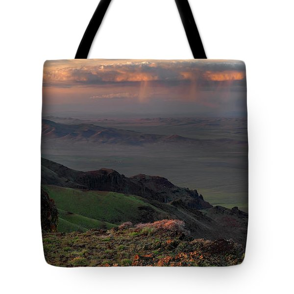 Oregon Canyon Mountain Views Tote Bag by Leland D Howard