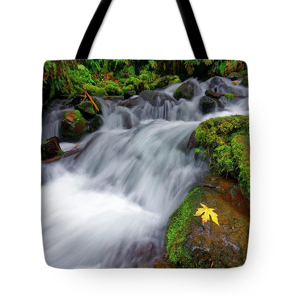 Tote Bag featuring the photograph Oregon Cascade by Jonathan Davison