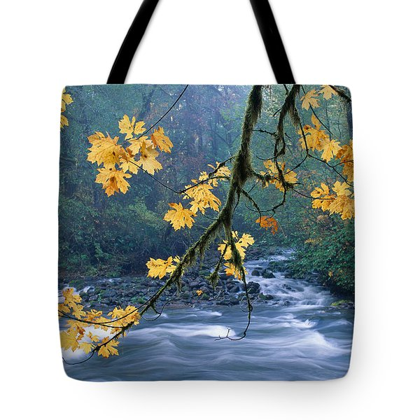 Oregon, Cascade Mountain Tote Bag by Carl Shaneff - Printscapes