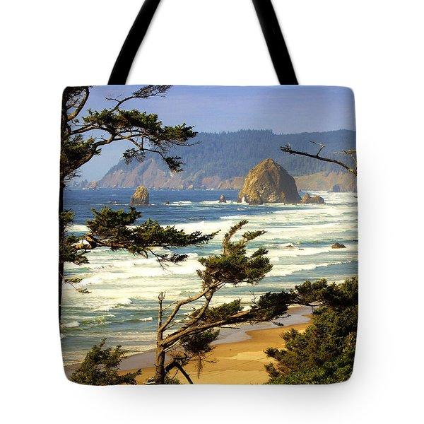 Oregon Coast 15 Tote Bag by Marty Koch