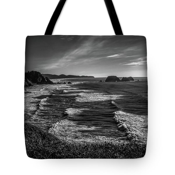 Oregon Coast At Sunset Tote Bag by Jon Burch Photography