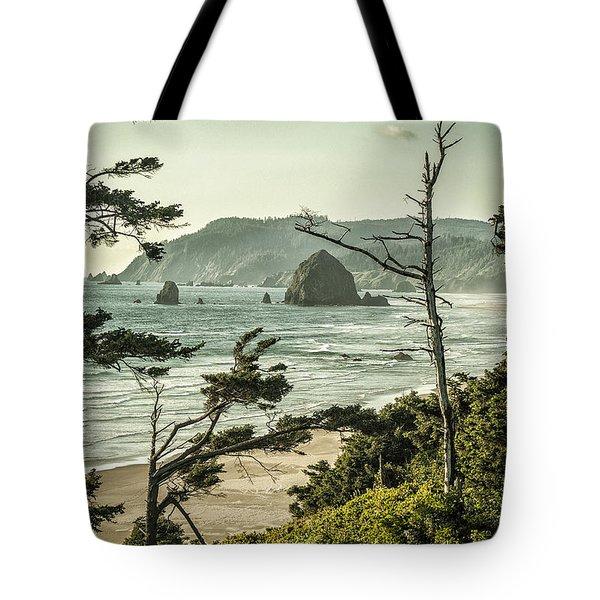 Oregon Coast At Sunset Tote Bag