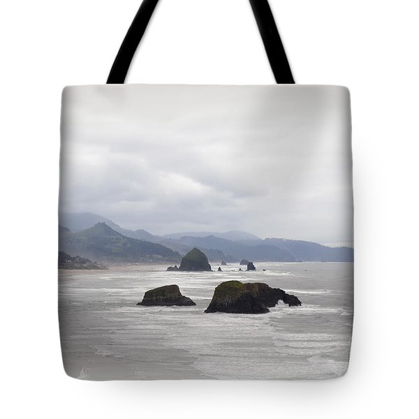 Oregon Coast Mountain Clouds Landscape Tote Bag by Andrea Hazel Ihlefeld