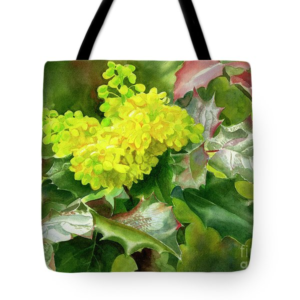 Oregon Grape Blossoms With Leaves Tote Bag by Sharon Freeman