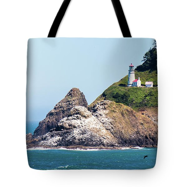 Tote Bag featuring the photograph Oregon Lighthouse by Jonny D