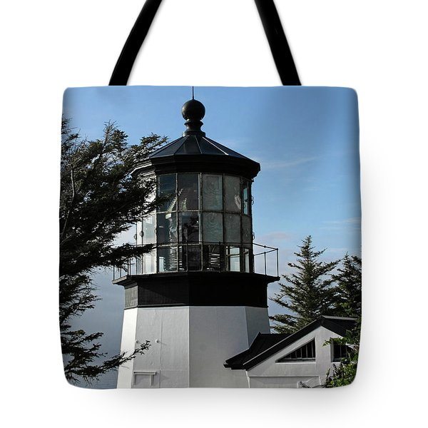 Oregon Lighthouses - Cape Meares Lighthouse Tote Bag by Christine Till