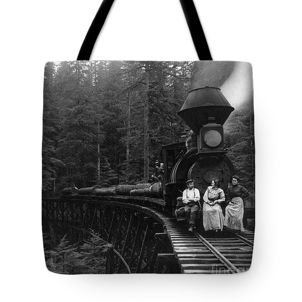Oregon: Logging Train Tote Bag by Granger