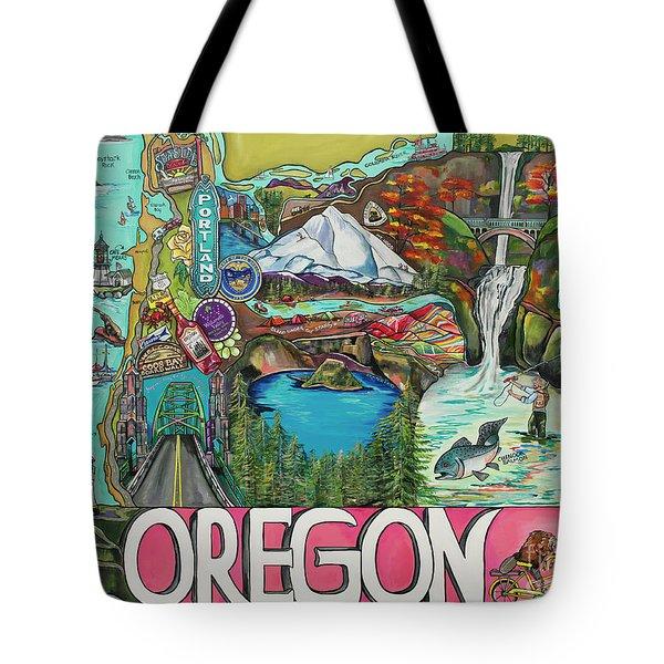 Oregon Map Tote Bag