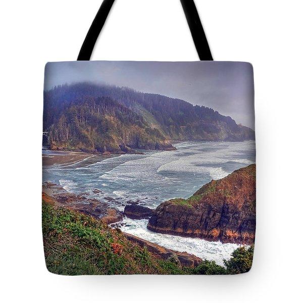 Oregon Pacific Coastline Tote Bag