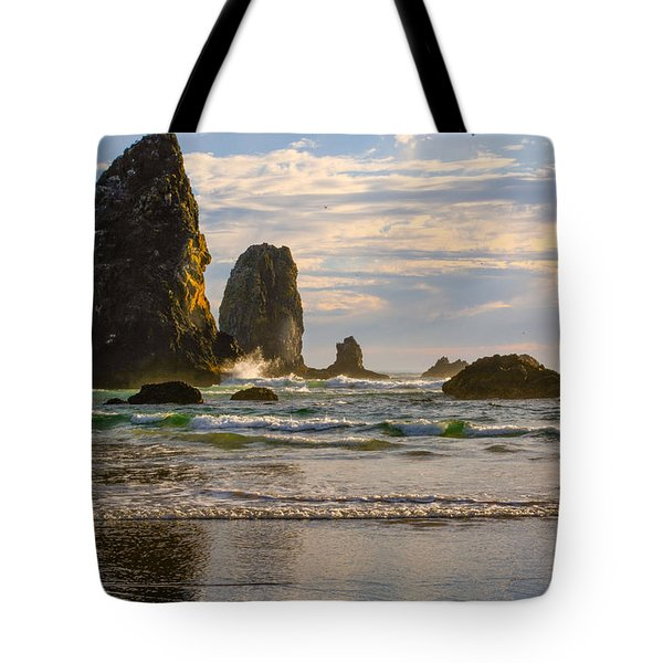 Oregon Sea Stacks Tote Bag