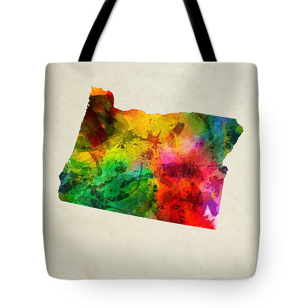 Oregon State Map 01 Tote Bag by Aged Pixel