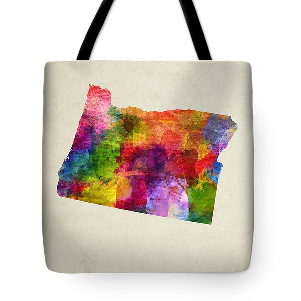 Oregon State Map 02 Tote Bag by Aged Pixel