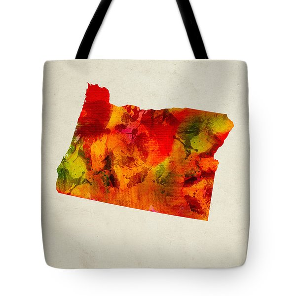 Oregon State Map 04 Tote Bag by Aged Pixel