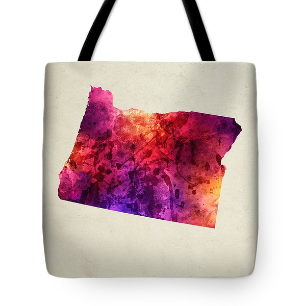 Oregon State Map 05 Tote Bag by Aged Pixel