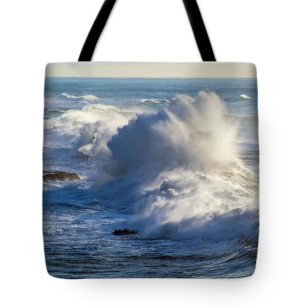 Tote Bag featuring the photograph Oregon Surf by Dennis Bucklin