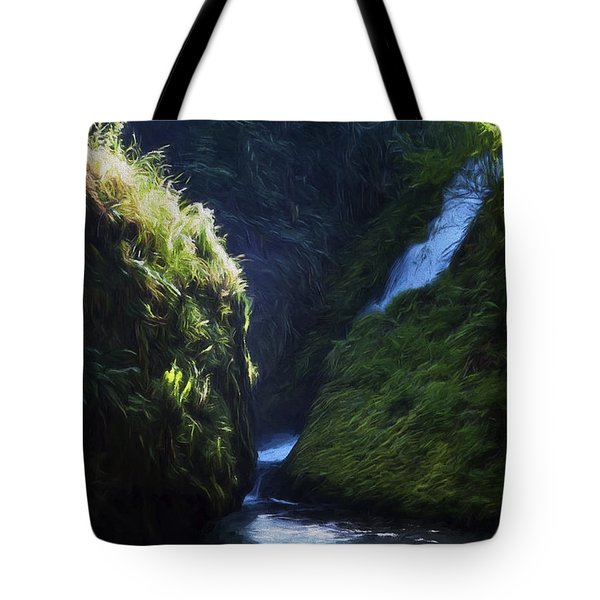 Oregon Waterfall Tote Bag