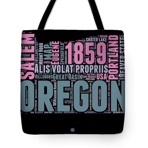 Oregon Word Cloud 2 Tote Bag