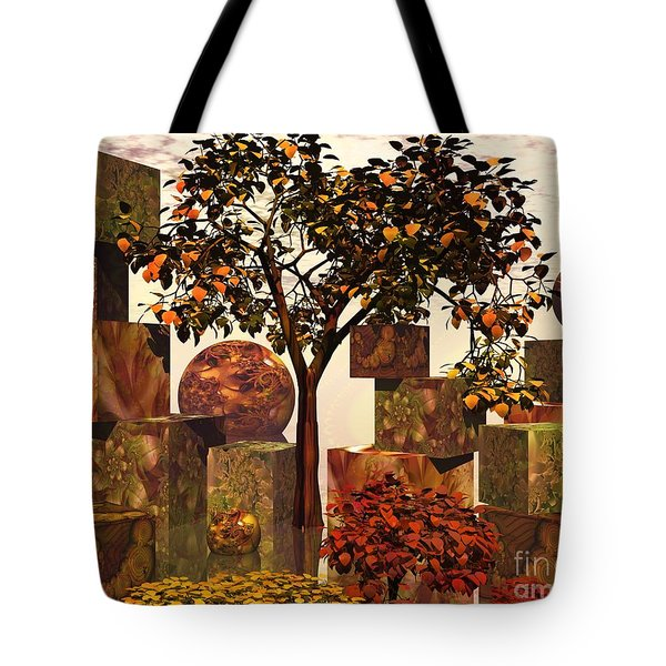 Tote Bag featuring the digital art Organic Geometry by Michelle H