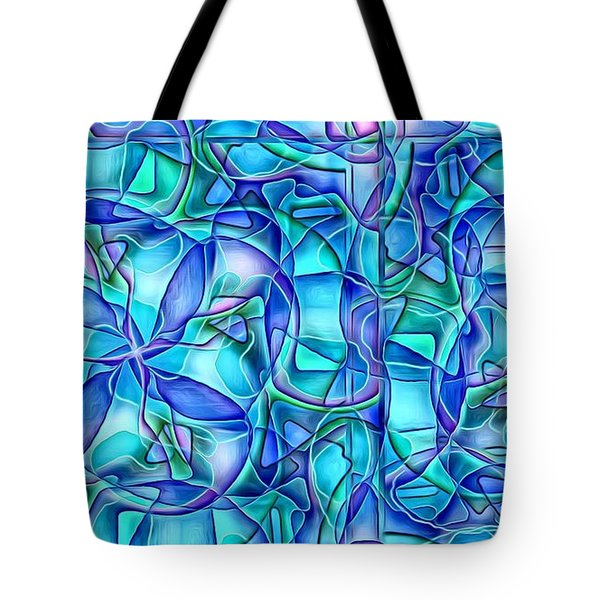 Organic In Square Tote Bag by Ron Bissett