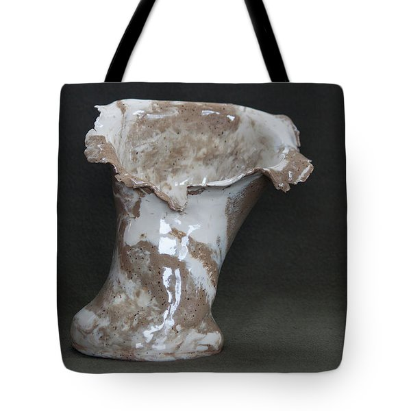 Organic Marbled Clay Ceramic Vase Tote Bag by Suzanne Gaff